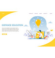 distance education website landing page vector image