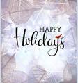 festive winter background bokeh lights vector image