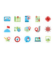 gps map and navigation icons collection vector image vector image