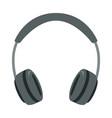 grey headphones flat style vector image vector image
