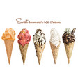hand drawn sweet ice cream vector image vector image