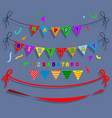 happy birthday flag party vector image