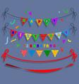 happy birthday flag party vector image vector image