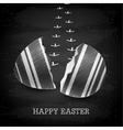 happy easter background - chalkboard vector image vector image