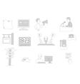 information facilities icon set vector image vector image