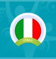 italy flag european football 2020 tournament vector image vector image