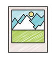 landscape snapshot isolated icon vector image