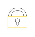 line padlock object symbol to security protection vector image vector image