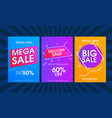modern colorful sale poster template set vector image vector image