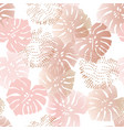 monochrome tropical gradient and dotted leaves vector image