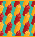 mustard and ketchup bottle seamless pattern fast vector image