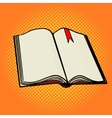 Open book pop art style vector image