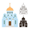orthodox churches icons religion buildings vector image