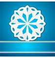 paper cut snowflake vector image vector image