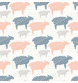 pink blue and grey pastel color sheep silhouette vector image vector image