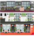 restaurant and cafe interior set in flat vector image vector image