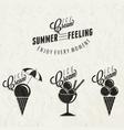 Retro vintage style Ice Cream design vector image