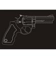 revolver outline vector image