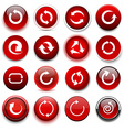 Round red arrow icons vector image vector image
