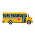 school bus icon flat design vector image vector image