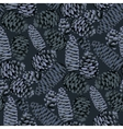 Seamless pattern of the pine cones vector image