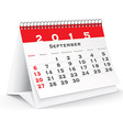 September 2015 desk calendar vector image vector image