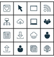 set of 16 world wide web icons includes followed vector image vector image
