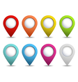 set of bright map pointers vector image vector image
