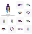 set of love paint logo design concept colorful vector image