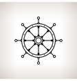 Silhouette ships wheel on a light background vector image vector image
