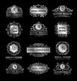 silver luxury labels set vector image vector image
