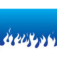 Simple white flames background vector image vector image
