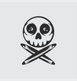 skull and crossbones design vector image vector image