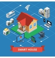 Smart House Isometric vector image vector image