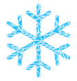 snowflake mosaic of triangles vector image