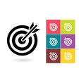 Target icon or target symbol vector image vector image