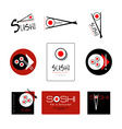 Template of identity for Sushi Restaurant and Bar vector image vector image