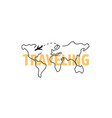 travel world with plane line style vector image vector image