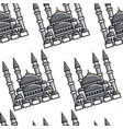 turkey symbol national architecture mosque vector image