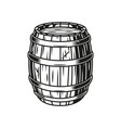 vintage beer wooden barrel vector image vector image