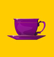 violet coffee or tea in purple cup and fragrance vector image