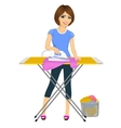 woman ironing clothes Housework vector image