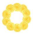 yellow dahlia wreath vector image