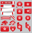 Hong Kong flags vector image