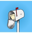 Mail box pop art style vector image