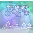 Merry Christmas greetings on bokeh background vector image