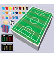 collection of soccer vector image