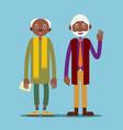 two african american elderly man vector image