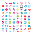 1Social color Media Circles Icon Network vector image vector image
