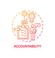 accountability red gradient concept icon